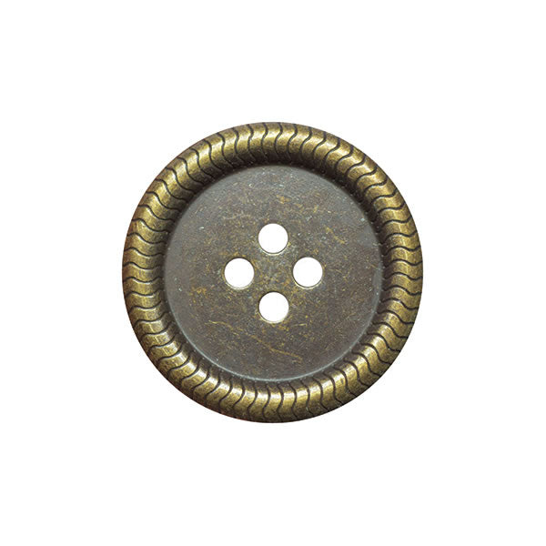 Metal Button 15mm Old Brass