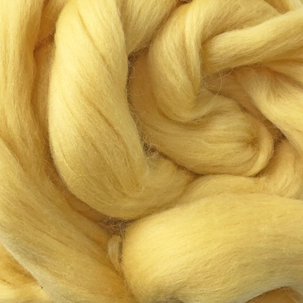 100g Baby Yellow Merino Wool Tops for felting & giant knitting