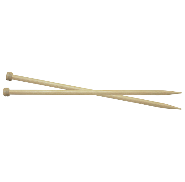 Basix Birch: Knitting Pins: Single Ended: 40cm x 8mm