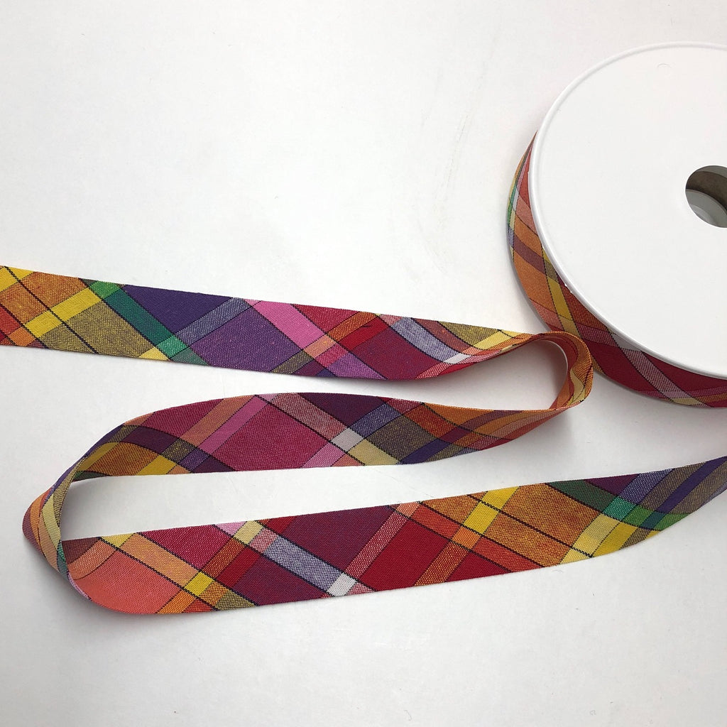 Bias Binding 100% Cotton 27mm Madras 01