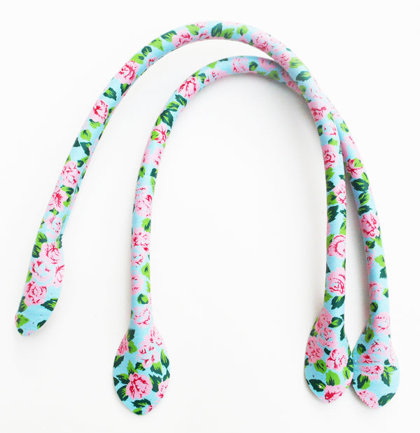 Blue Flower Bag Handles 40cm
