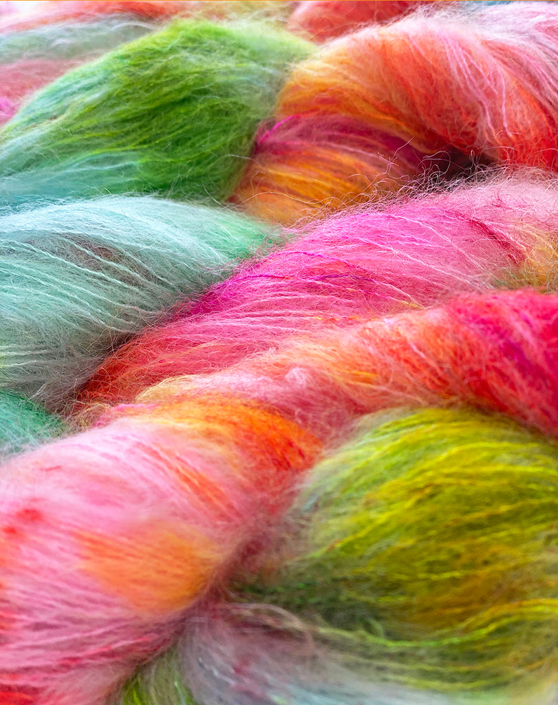 Gilliangladrag Holy Fluff Hand Dyed Kid Silk Lace : Boogie Wonderland