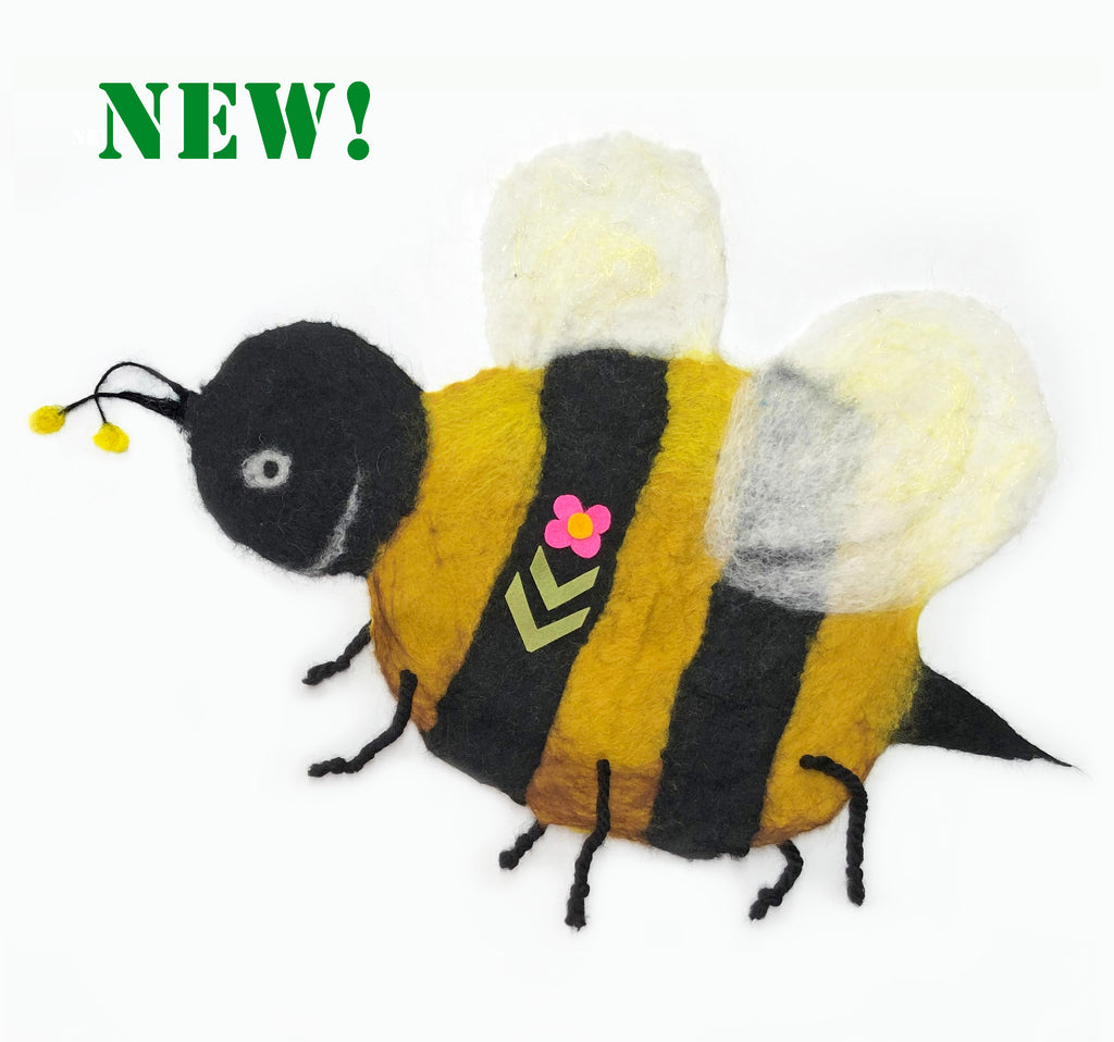 Brigadier Buzzington : COMPLETE Bee Picture Felting Kit (with Free Bee Seeds!)