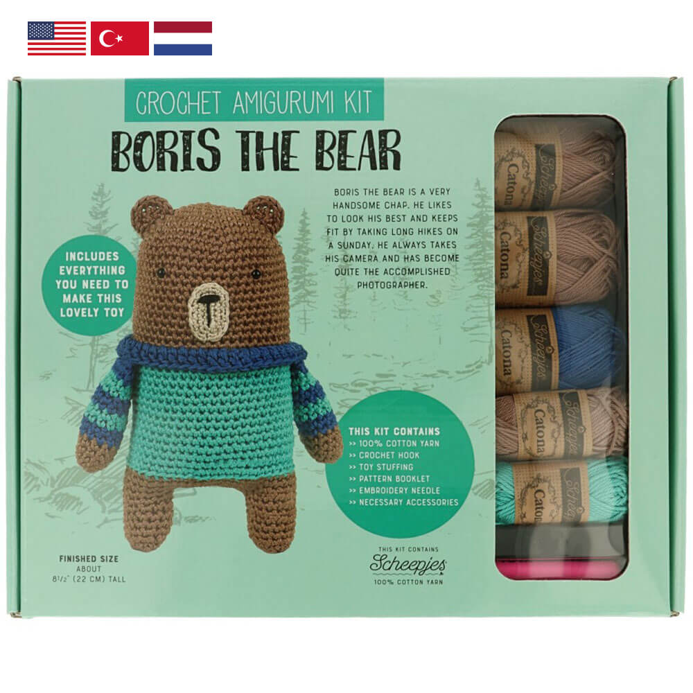 Tuva Amigurumi Crochet Kit : Boris the Bear