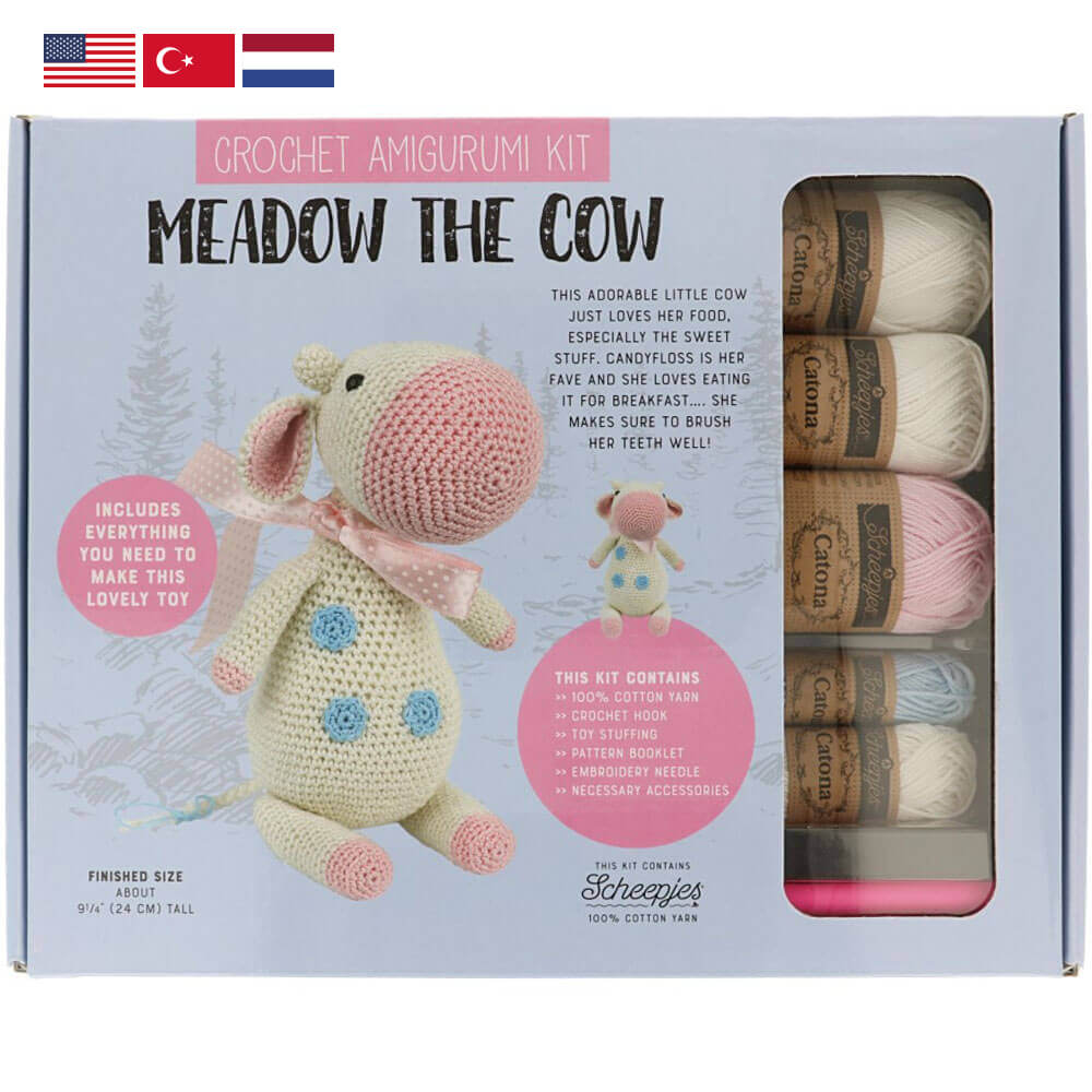 Tuva Amigurumi Crochet Kit : Meadow the Cow