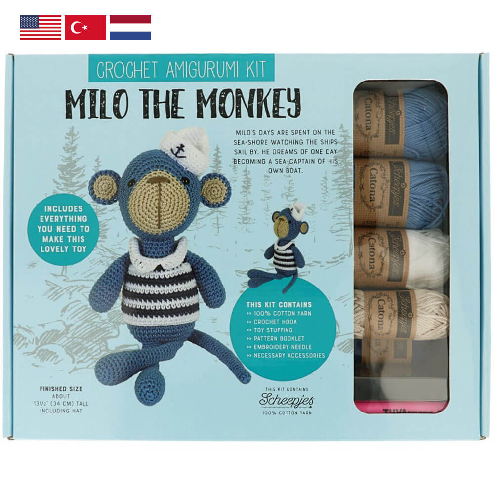 Tuva Amigurumi Crochet Kit : Milo the Monkey