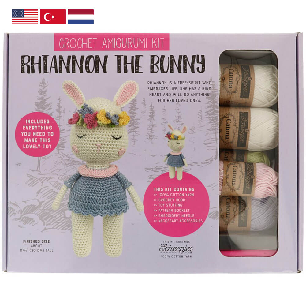 Tuva Amigurumi Crochet Kit : Rhiannon the Bunny