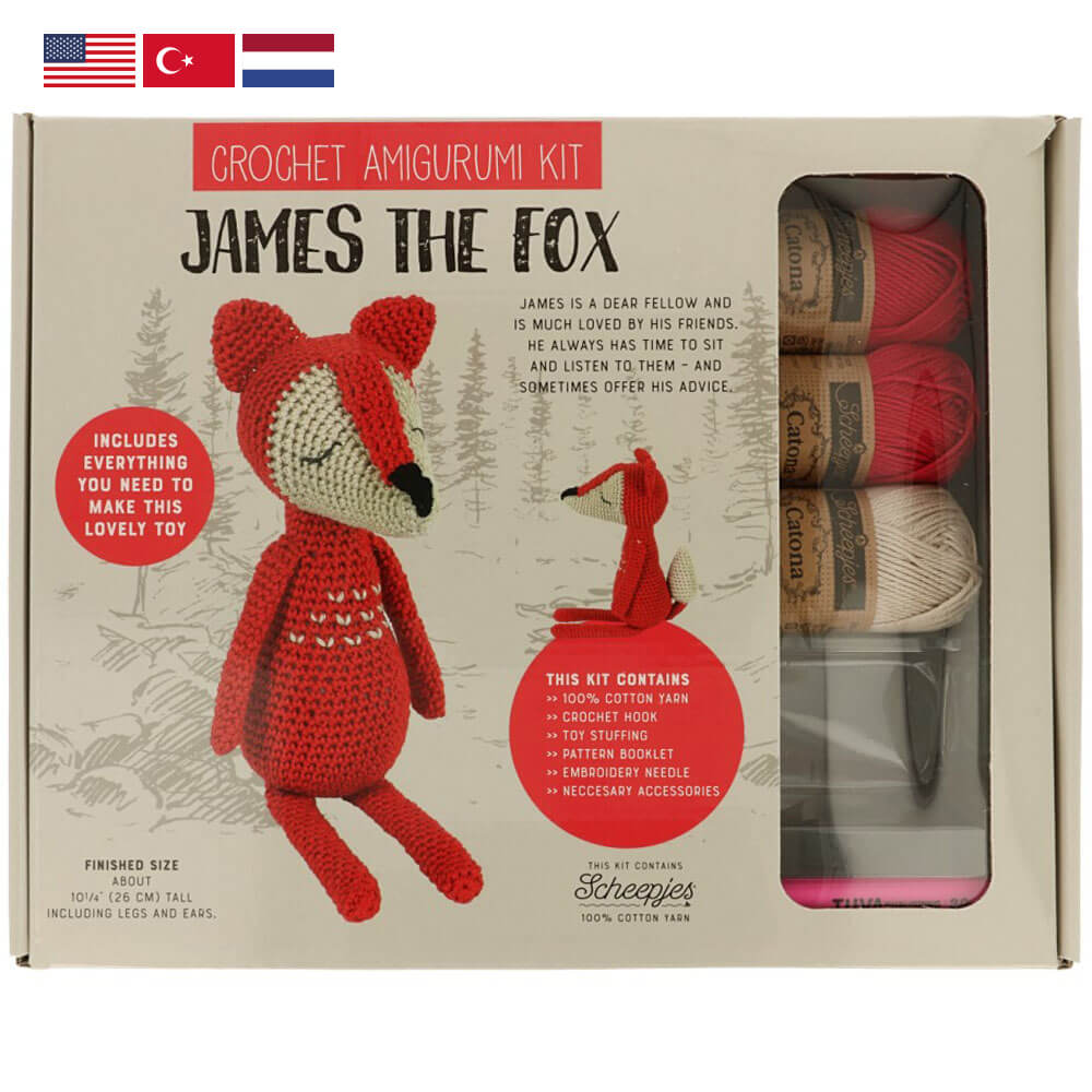 Tuva Amigurumi Crochet Kit : James the Fox