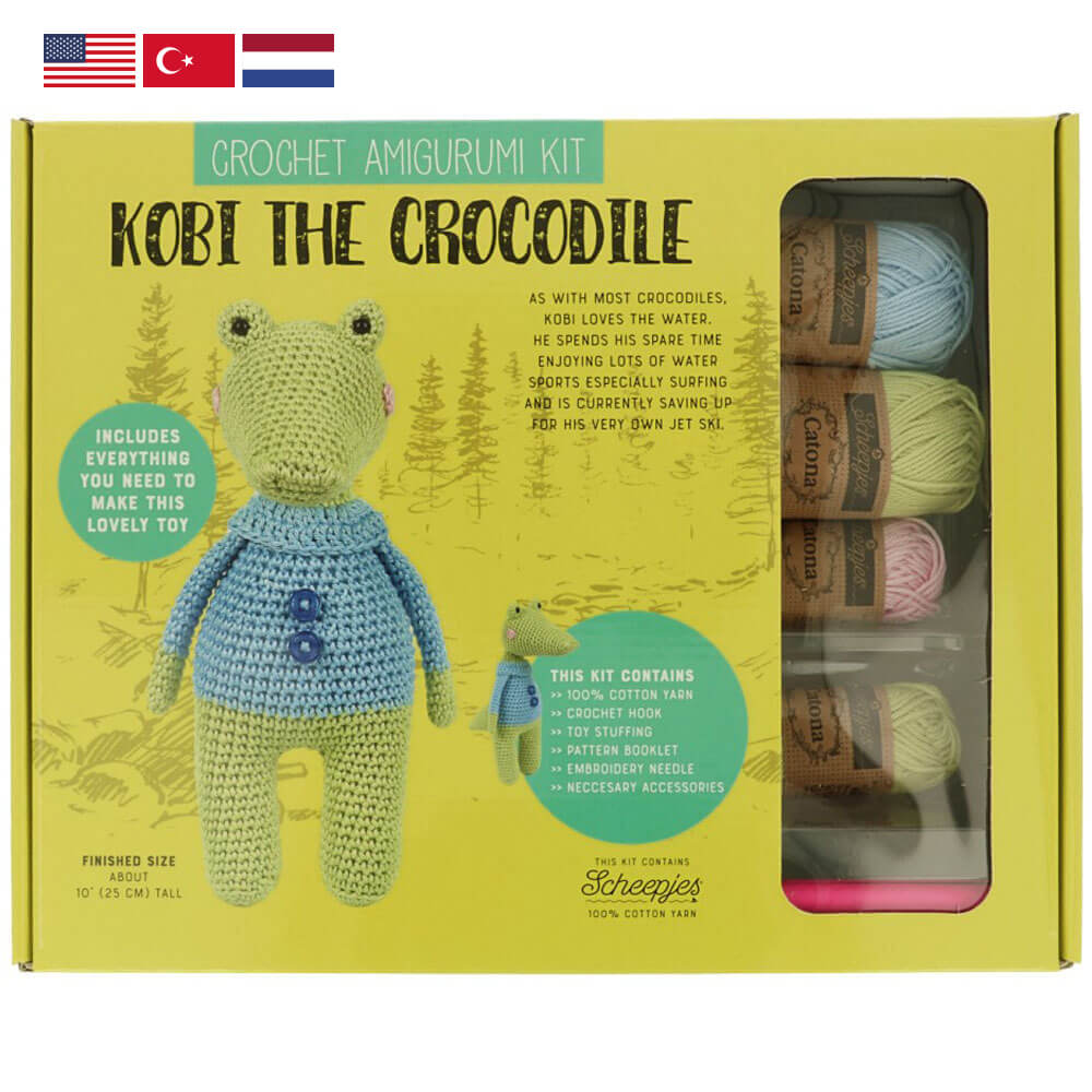 Tuva Amigurumi Crochet Kit : Kobi the Crocodile