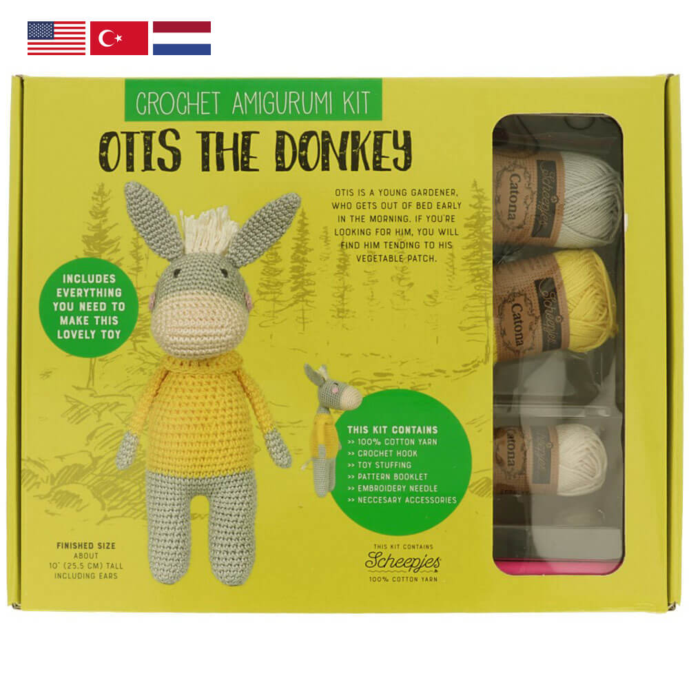 Tuva Amigurumi Crochet Kit : Otis the Donkey