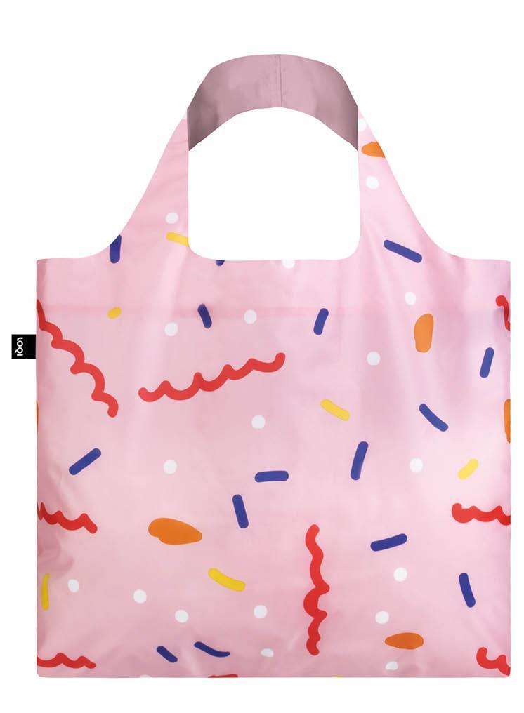 CELESTE WALLAERT Confetti Foldable Shopping Bag with pouch