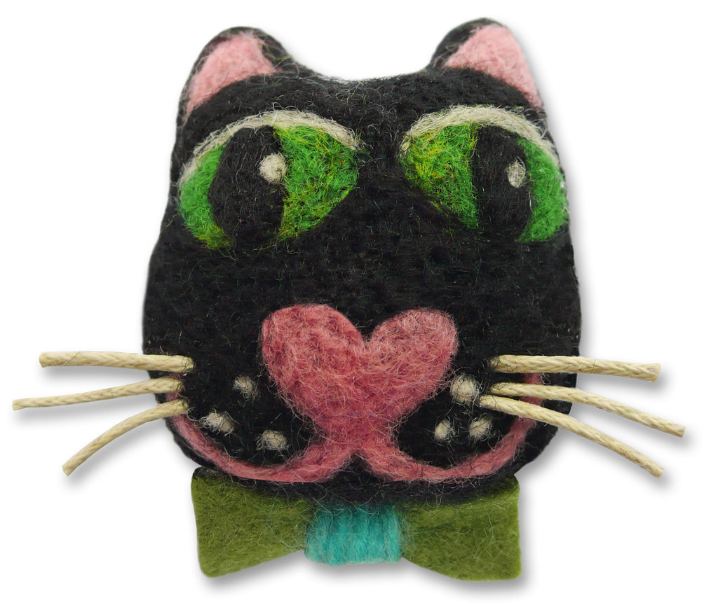 Captain Catpin Needle Felting Kit Cat Brooch