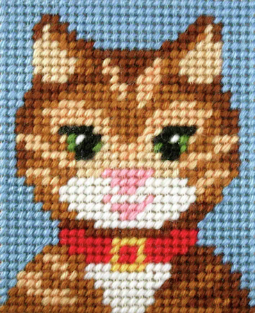 Kids Embroidery Kit - Cat