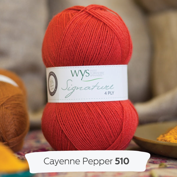 WYS Signature 4 ply yarn Cayenne Pepper 510