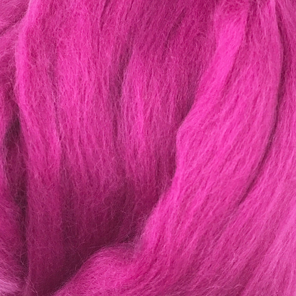 100g Cerise Merino Wool Tops for felting & giant knitting