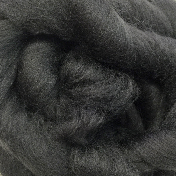 100g Charcoal Merino wool tops for felting & giant knitting
