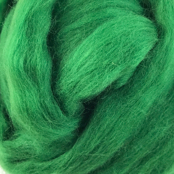 100g Christmas Green Merino wool tops for felting & knitting