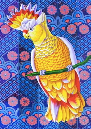 Cockatoo Greetings Card by Jane Tattersfield