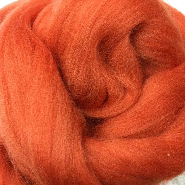 100g Copper Merino Wool Tops for felting & giant knitting