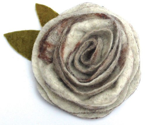Sweet Sepia Felting Corsage Kit