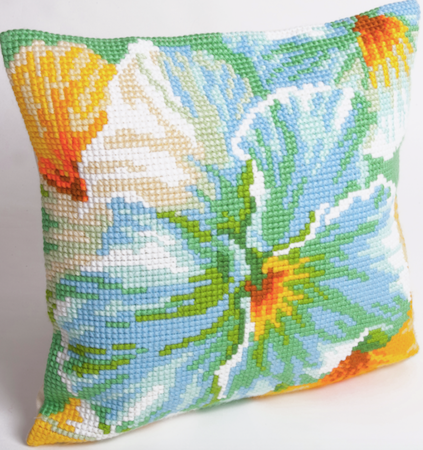 Cross Stitch Cushion: Spring