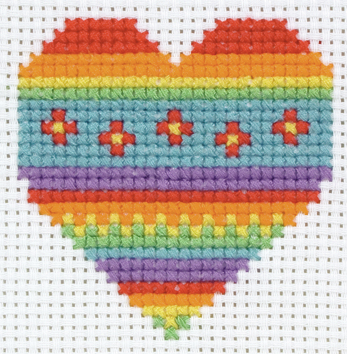 Cross Stitch Kit: 1st Kit: Heart