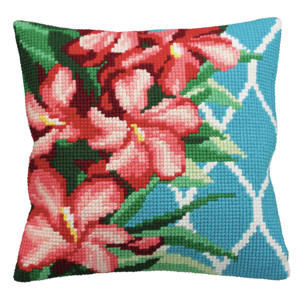 Cross Stitch Kit: Cushion: Hibiscus