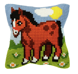 Cross Stitch Kit: Cushion: Horse
