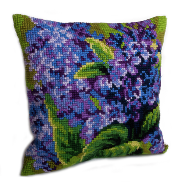 Cross Stitch Kit: Cushion: Single Lilac