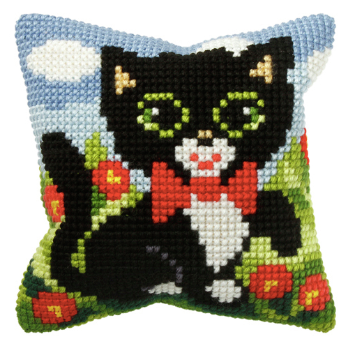 Cross Stitch Cushion Kit: Small: Kitten
