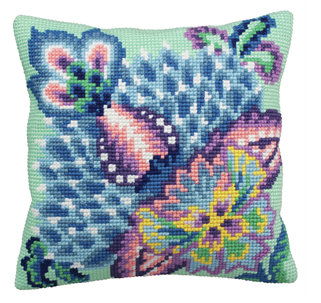 Cross Stitch Cushion: Romance