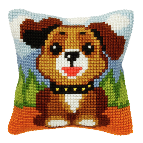 Cross Stitch Kit: Cushion: Dog