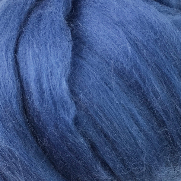 100g Denim Blue Merino wool tops for felting & giant knitting