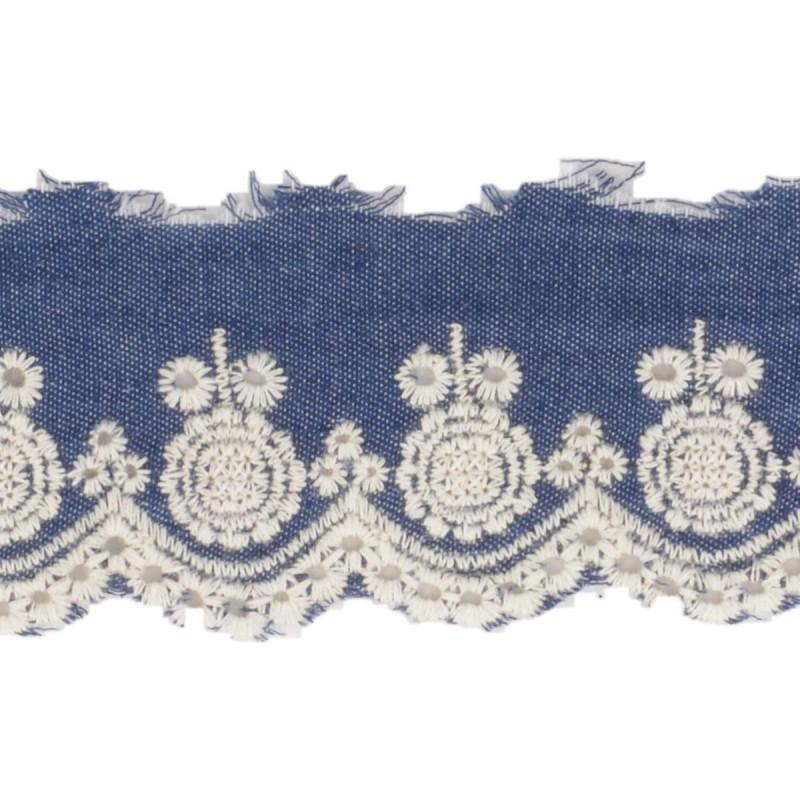 Denim Embroidery Anglaise 45mm