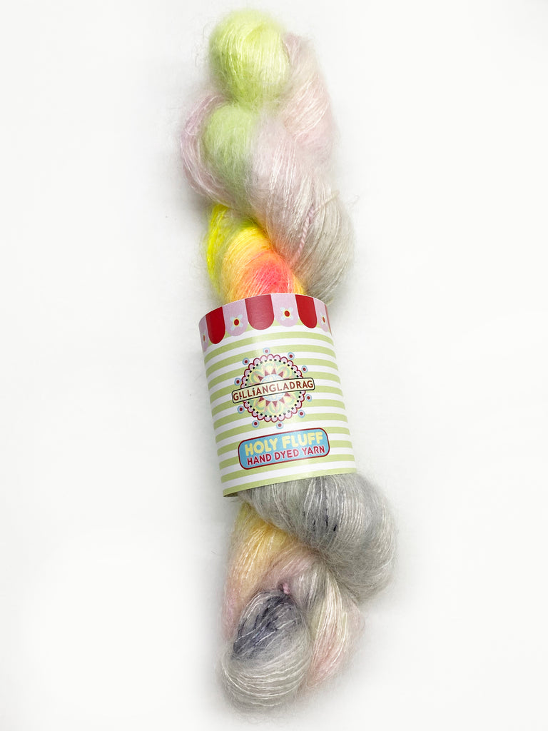 Gilliangladrag Holy Fluff Hand Dyed Kid Silk Lace : 'Don't Worry Be Happy'