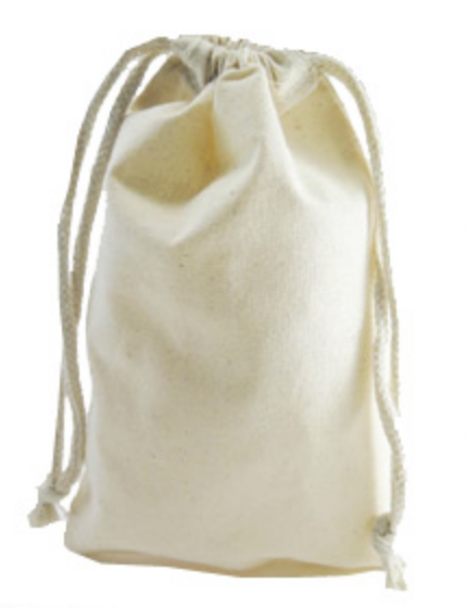 Drawstring Cotton Bag for painting or stitching 30cm x 45cm
