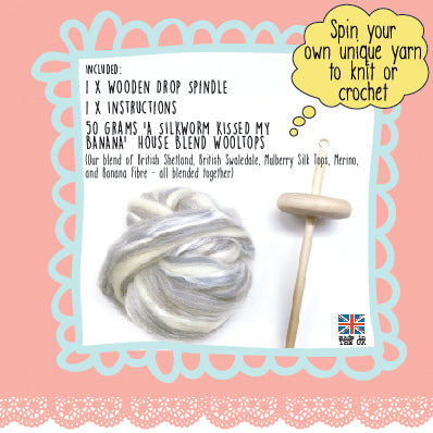 Drop Spindle Spinning Kit Give Us a Twirl : Two