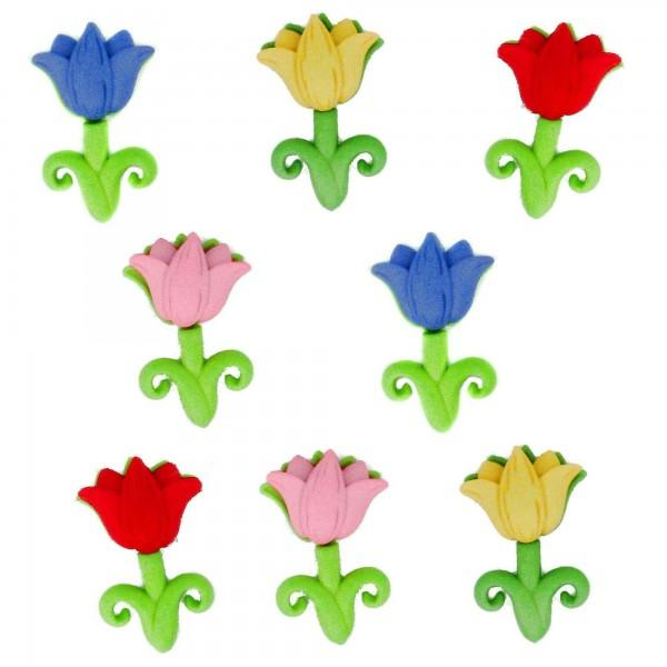 Easter Tulips Dress it Up Button Pack
