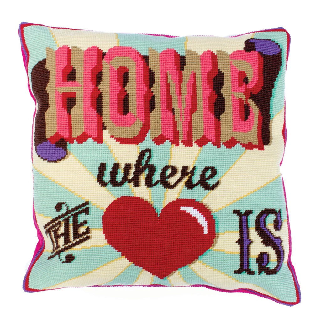 Emily Peacock Home Where the Heart Is Tapestry Cushion Front Kit