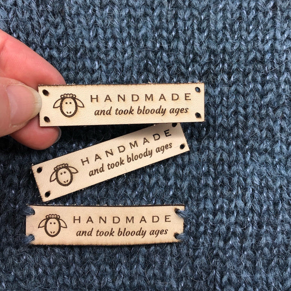 Handmade and Took Bloody Ages' Leather Label x 3 pack