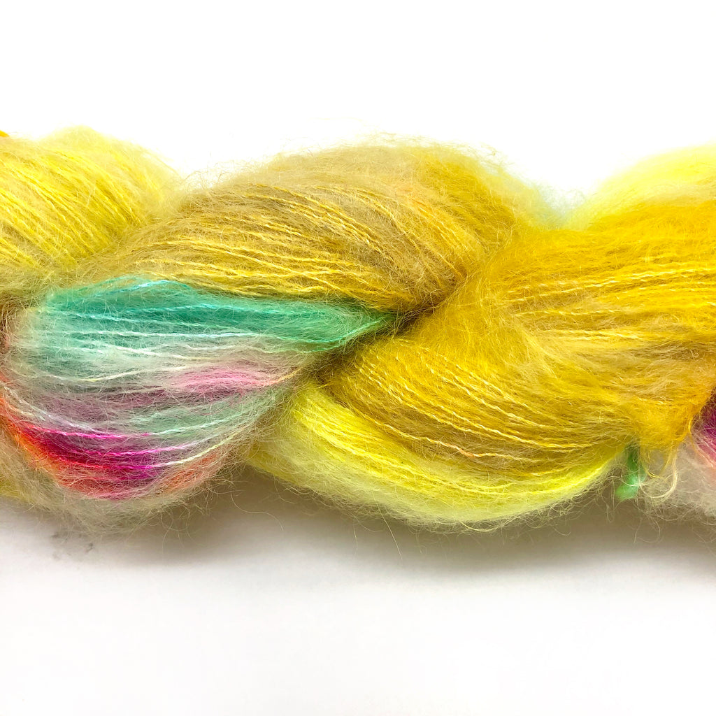 Gilliangladrag Holy Fluff Hand Dyed Kid Silk Lace : 'Hey Big Spender'
