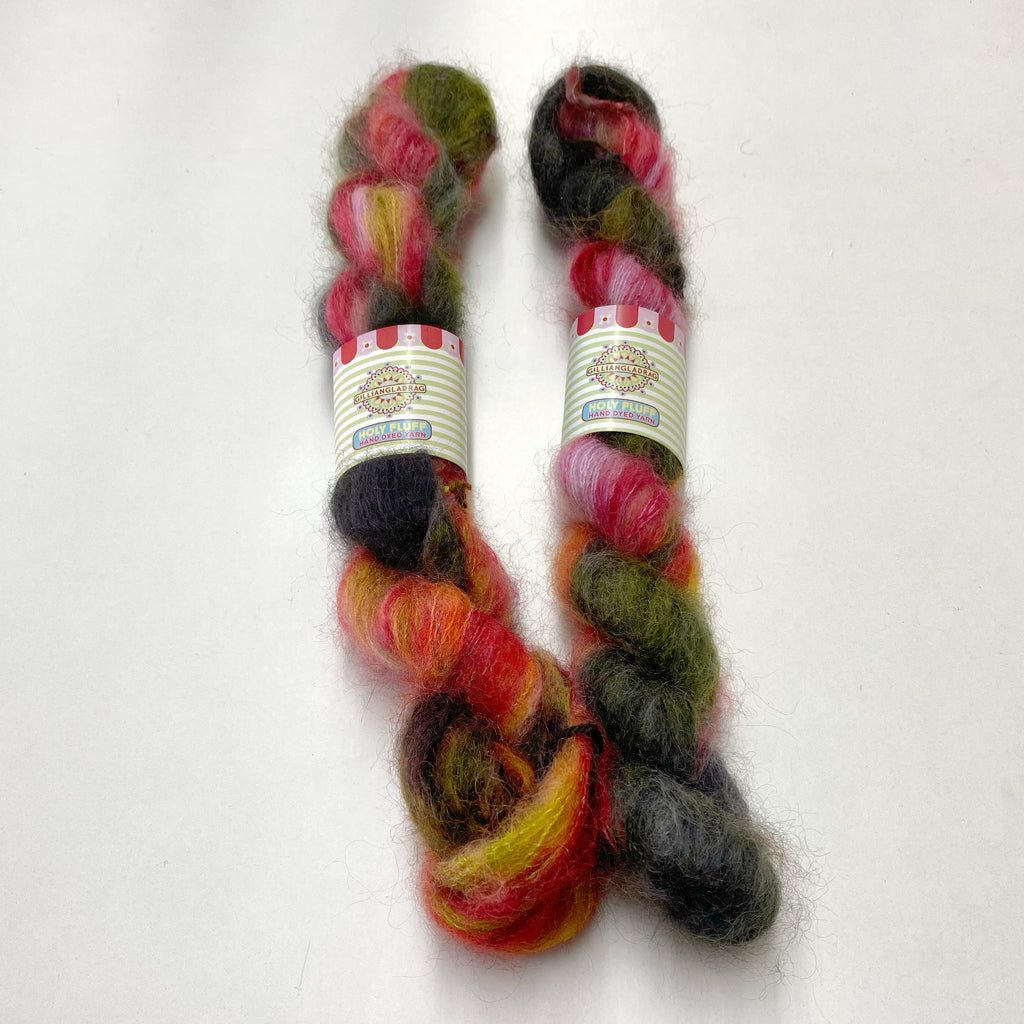 Gilliangladrag Holy Fluff Hand Dyed Kid Silk Lace (20g) : 'Night Fever'