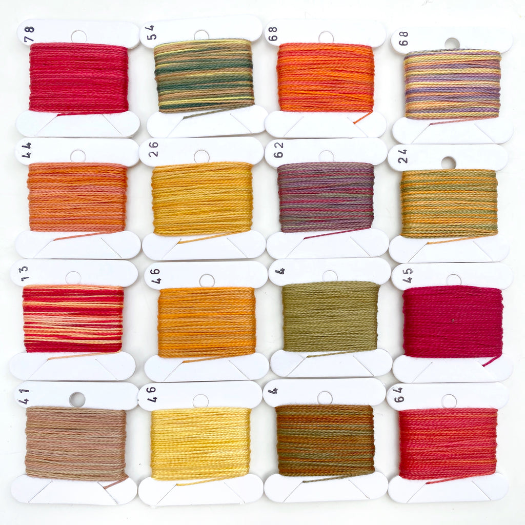 Hand Dyed Perlé 8 Thread Collection : 16 x 9m : Autumn