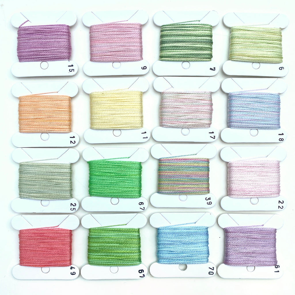 Hand Dyed Perlé 8 Thread Collection : 16 x 9m : Spring Collection