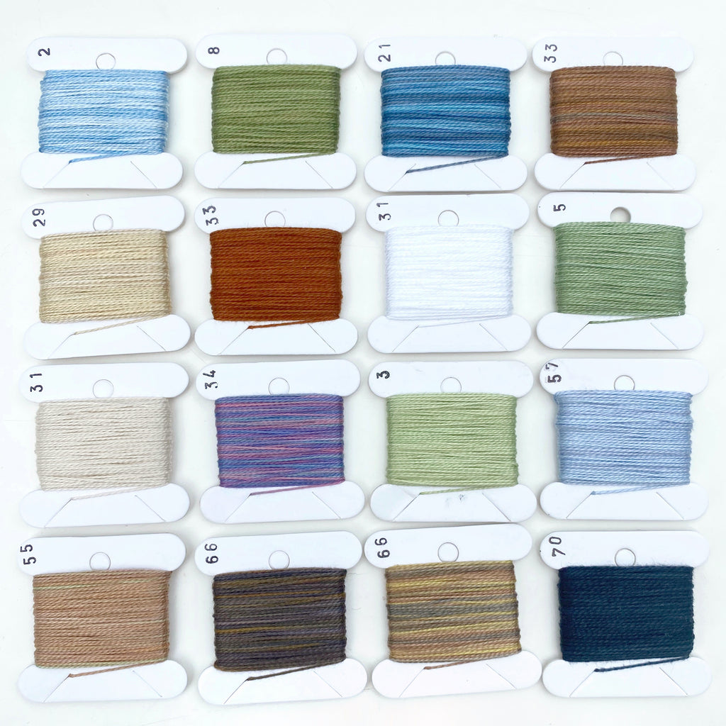 Hand Dyed Perlé 8 Thread Collection : 16 x 9m : Winter Collection