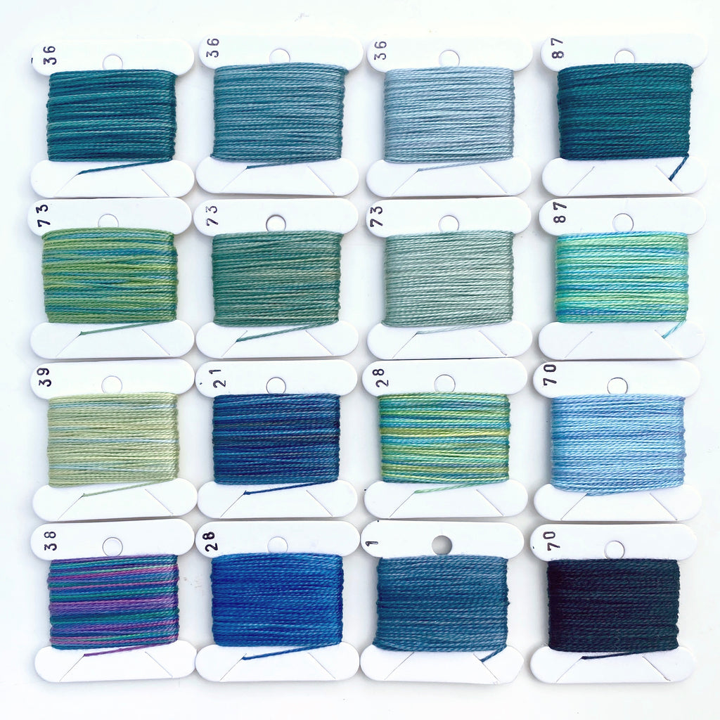 Hand Dyed Perlé 8 Thread Collection : 16 x 9m : Seven Seas Collection