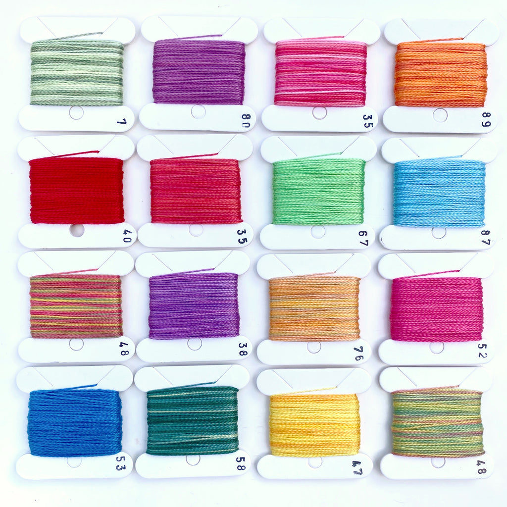 Hand Dyed Perlé 8 Thread Collection : 16 x 9m : Summer Collection