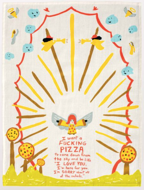 F*cking Pizza Dish Towel