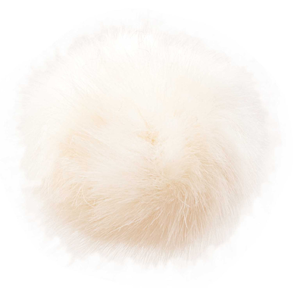 Fake Fur Pompom LARGE 13cm Cream
