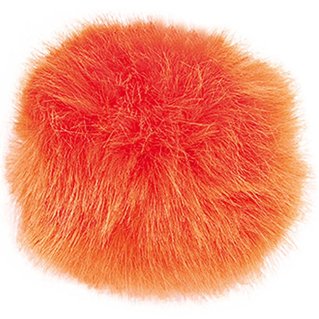Fake Fur Pompom LARGE 13cm Orange